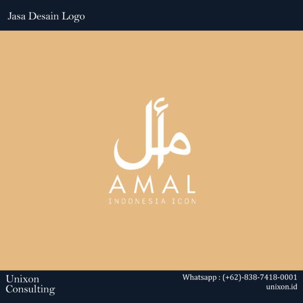 jasa desain logo pakaian fashion baju muslim amal di jakarta tangerang bekasi depok bogor bandung jogja bali surabaya