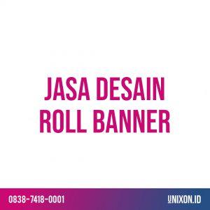 jasa desain roll banner