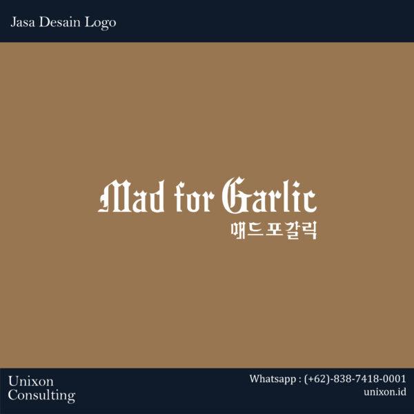 jasa design logo mad for garlic di jakarta